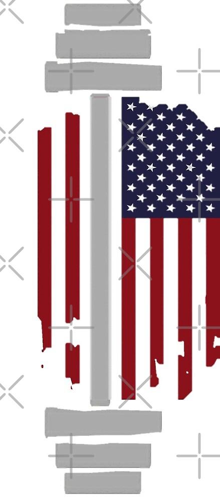 Athletic American Flag Barbell by jaimerstephen