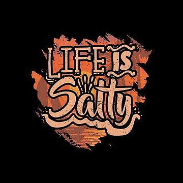 Life Is Salty Vacation Sticker by McThriftees