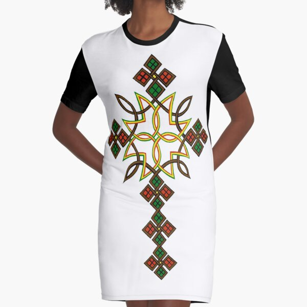 Ethiopian cross Graphic T-Shirt Dress