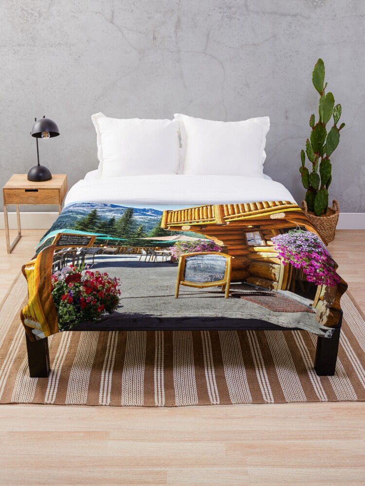 Quot Island Lake Lodge Fernie Bc Canada Quot Throw Blanket By