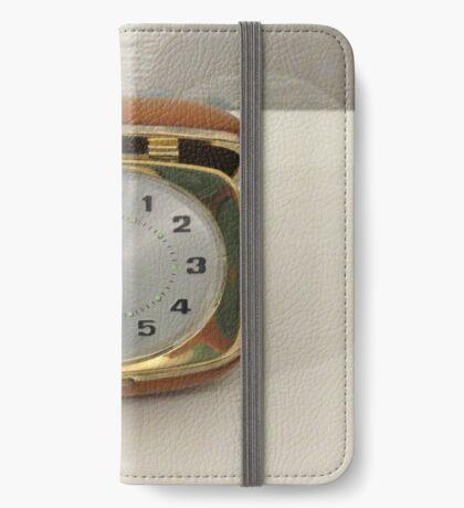 Tick oder nicht Tick? Vintage Reiseuhr iPhone Flip-Case