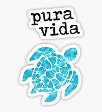 Pura Vida Schildkröte Sticker