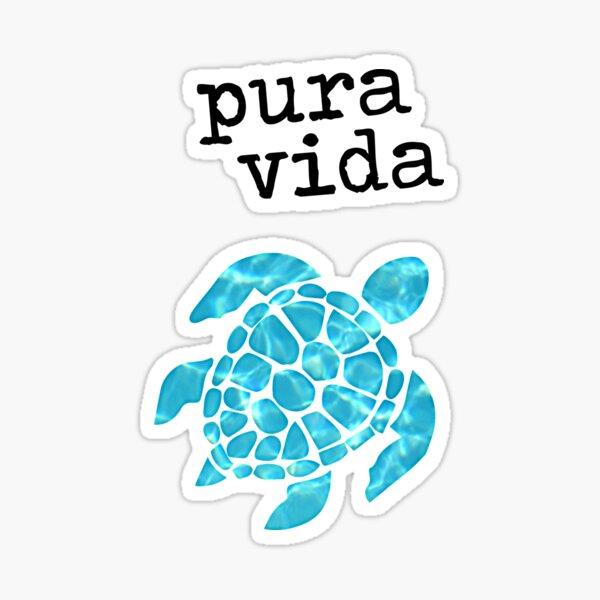 Pura Vida Turtle Sticker