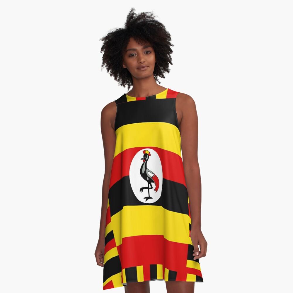 Uganda A Line Dress By Planetterra Redbubble