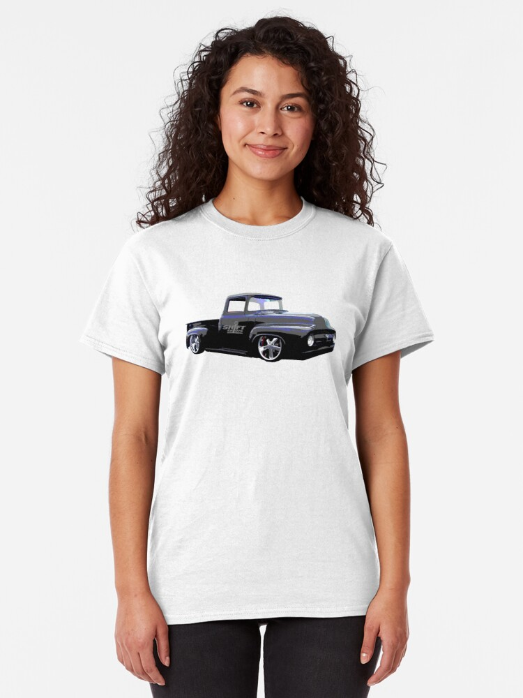 Alternate view of Shift Shirts Masses - Ford 67 F100 Pickup Inspired Classic T-Shirt