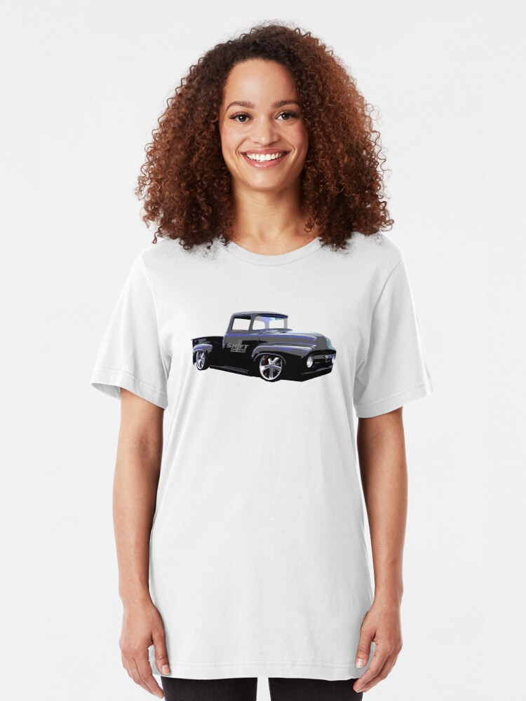 Alternate view of Shift Shirts Masses - Ford 67 F100 Pickup Inspired Slim Fit T-Shirt