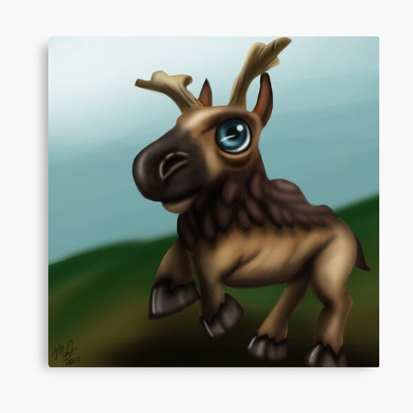 Baby Elderhorn Canvas Print