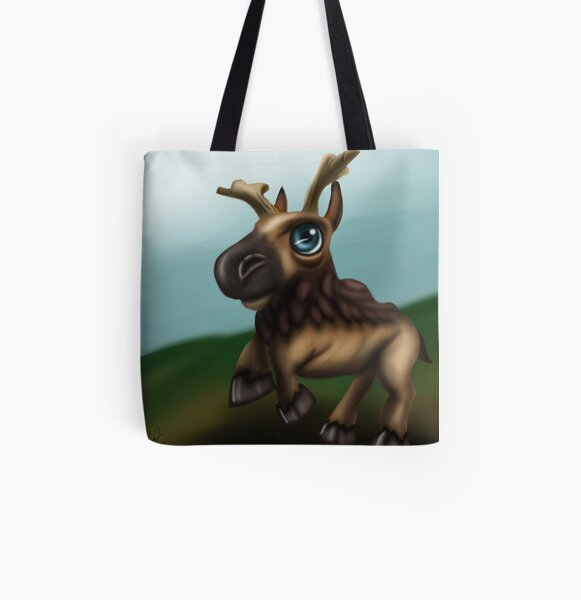 Baby Elderhorn All Over Print Tote Bag