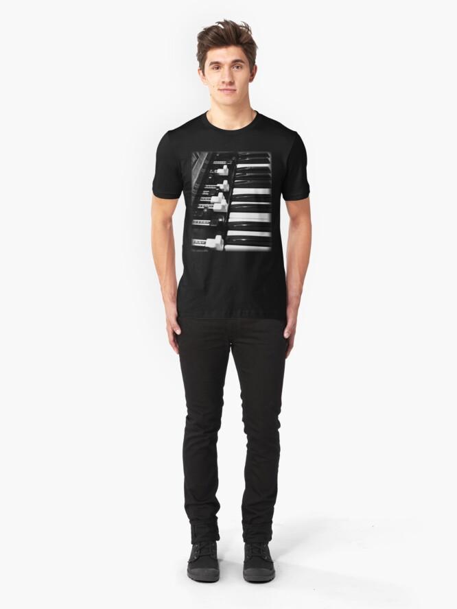 Alternate view of Hammond B3 Organ Slim Fit T-Shirt