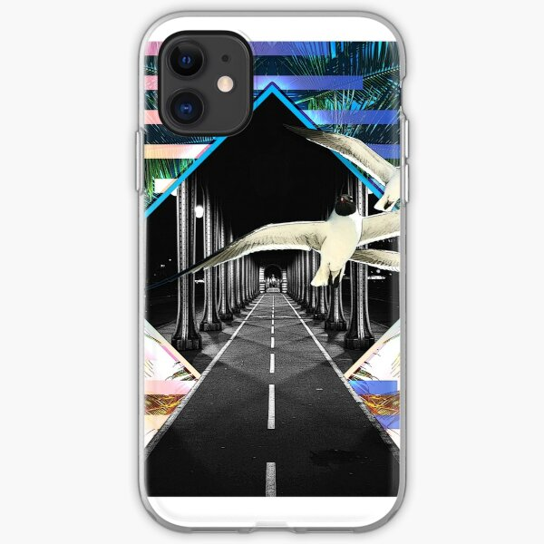 Surreal Tropical Street Diamond iPhone Soft Case