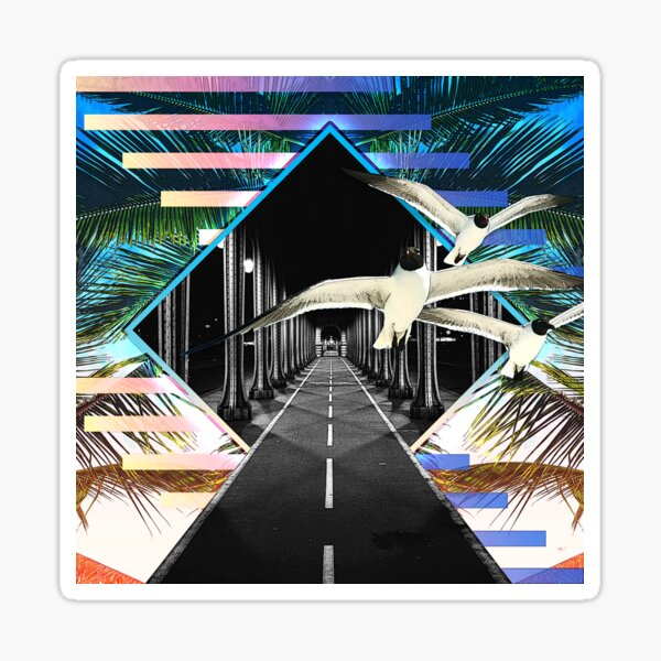 Surreal Tropical Street Diamond Sticker