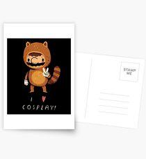 i love cosplay Postcards
