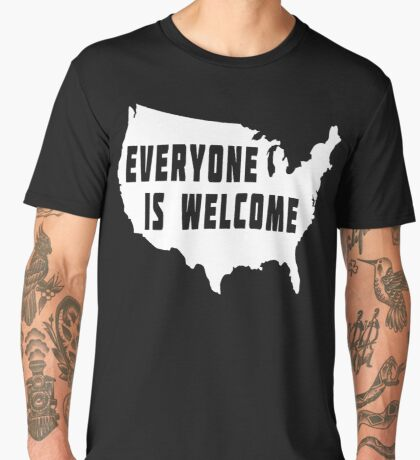 USA Everyone Is Welcome Men's Premium T-Shirt