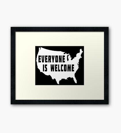 USA Everyone Is Welcome Framed Print