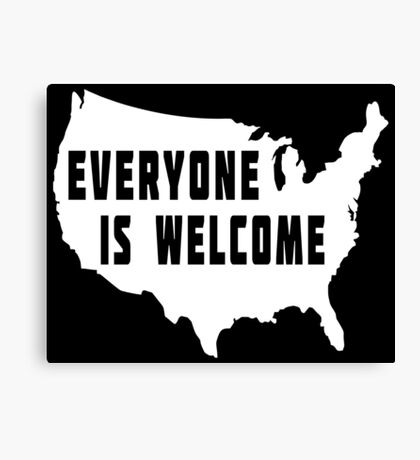 USA Everyone Is Welcome Canvas Print