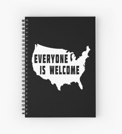 USA Everyone Is Welcome Spiral Notebook