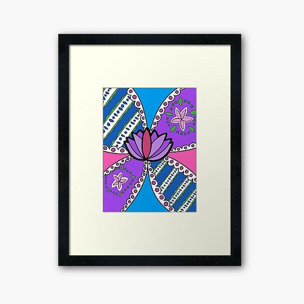 Lotus in Color Framed Art Print