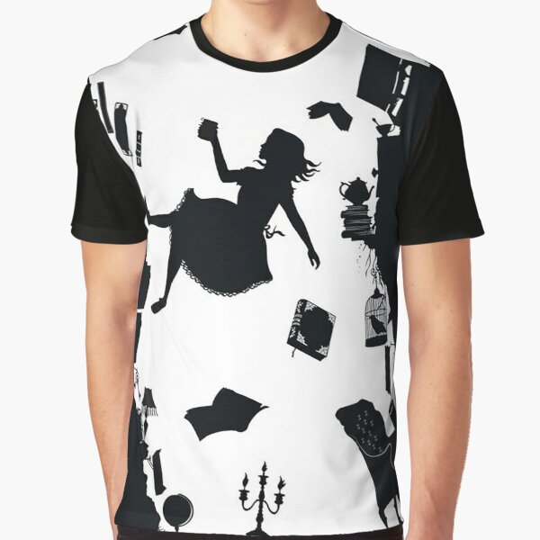 Alice Falling Down the Rabbit Hole Graphic T-Shirt