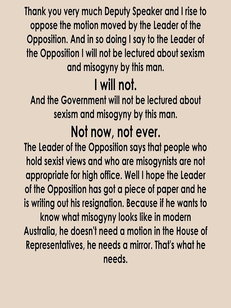 Julia Gillard Misogyny Speech  by Mr-MR
