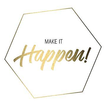 Inspiring Gifts for Entrepreneurs #3 - Gold on White by SKKSdesign