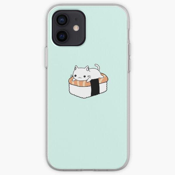 Kawaii Cute Sushi Cat Pattern iPhone Soft Case