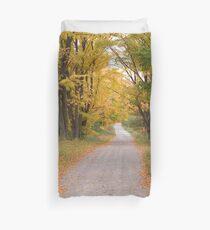 Autumn laneway Duvet Cover