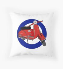 Mod Scooter Cirle Throw Pillow