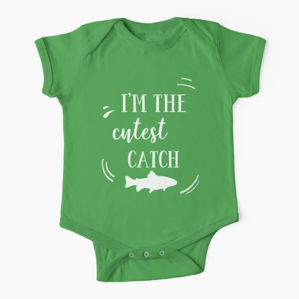 I'm the Cutest Catch Fishing Baby T-shirt Short Sleeve Baby One-Piece