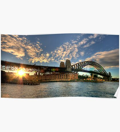 Winter Sunset at Sydney Harbour Bridge Poster
