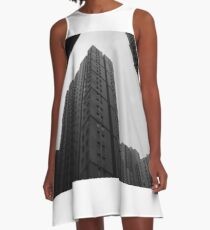 skyscrapers high-rise buildings in bw A-Line Dress