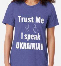 Cute Ukrainian Gift Shirt For Men Women Kids Tri-blend T-Shirt