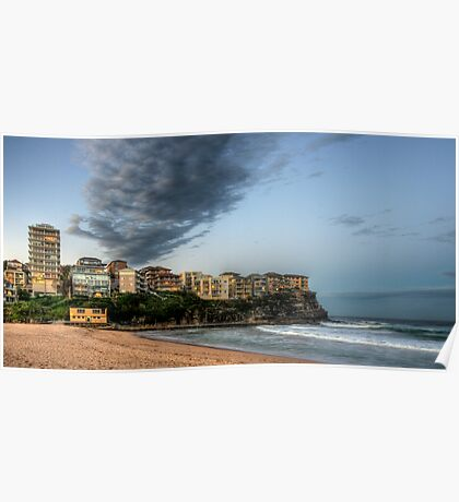 Queenscliff Beach Winter Sky Poster