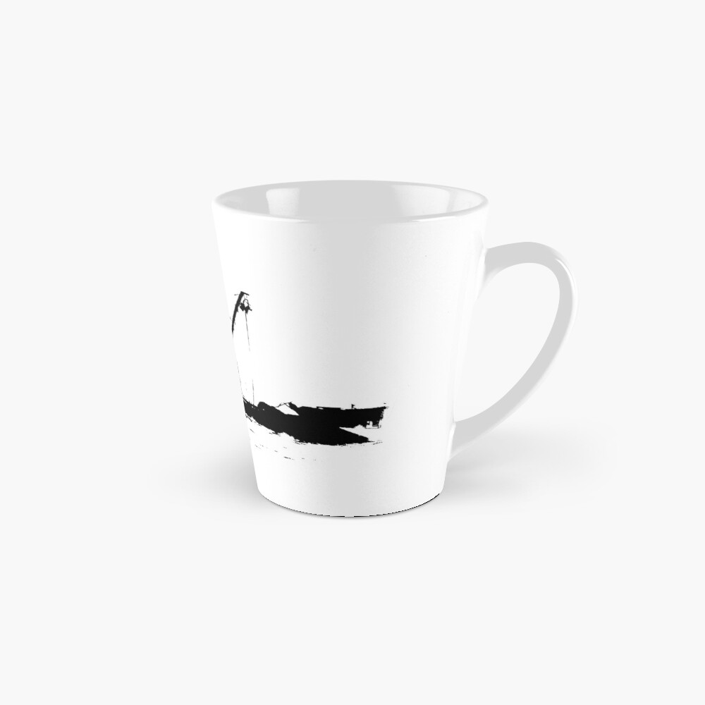 Fishing Boat Silhouette - Black on White/Color Background Mug