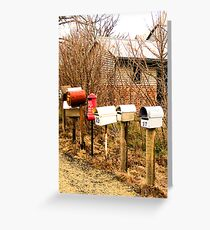 Farming Letterboxes Greeting Card