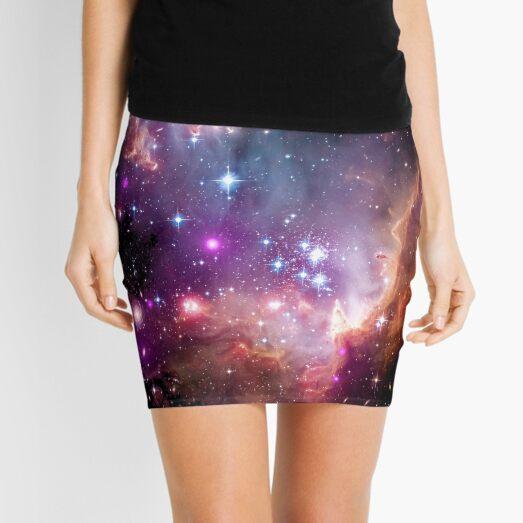 Colorful Galaxy Pattern Mini Skirt