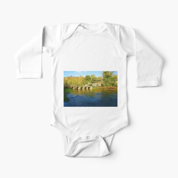 River Wye, Monsal Dale Long Sleeve Baby One-Piece
