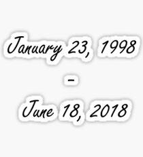 Rest In Peace X Sticker