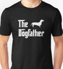 Camiseta unisex The Dogfather T-Shirt Hombres Dachshund Dog Lovers Gift