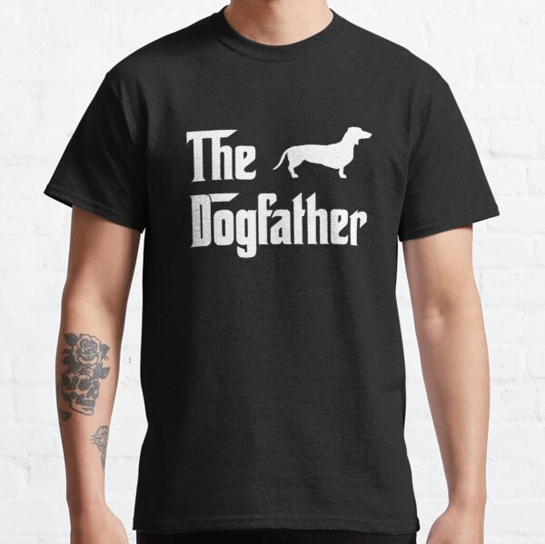 The Dogfather T-Shirt Mens Dachshund Dog Lovers Gift Classic T-Shirt