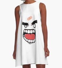 Angry face A-Line Dress