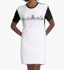 Meet me at my Happy Place Vector Orlando Theme Park Illustration Design Graphic T-Shirt Dress