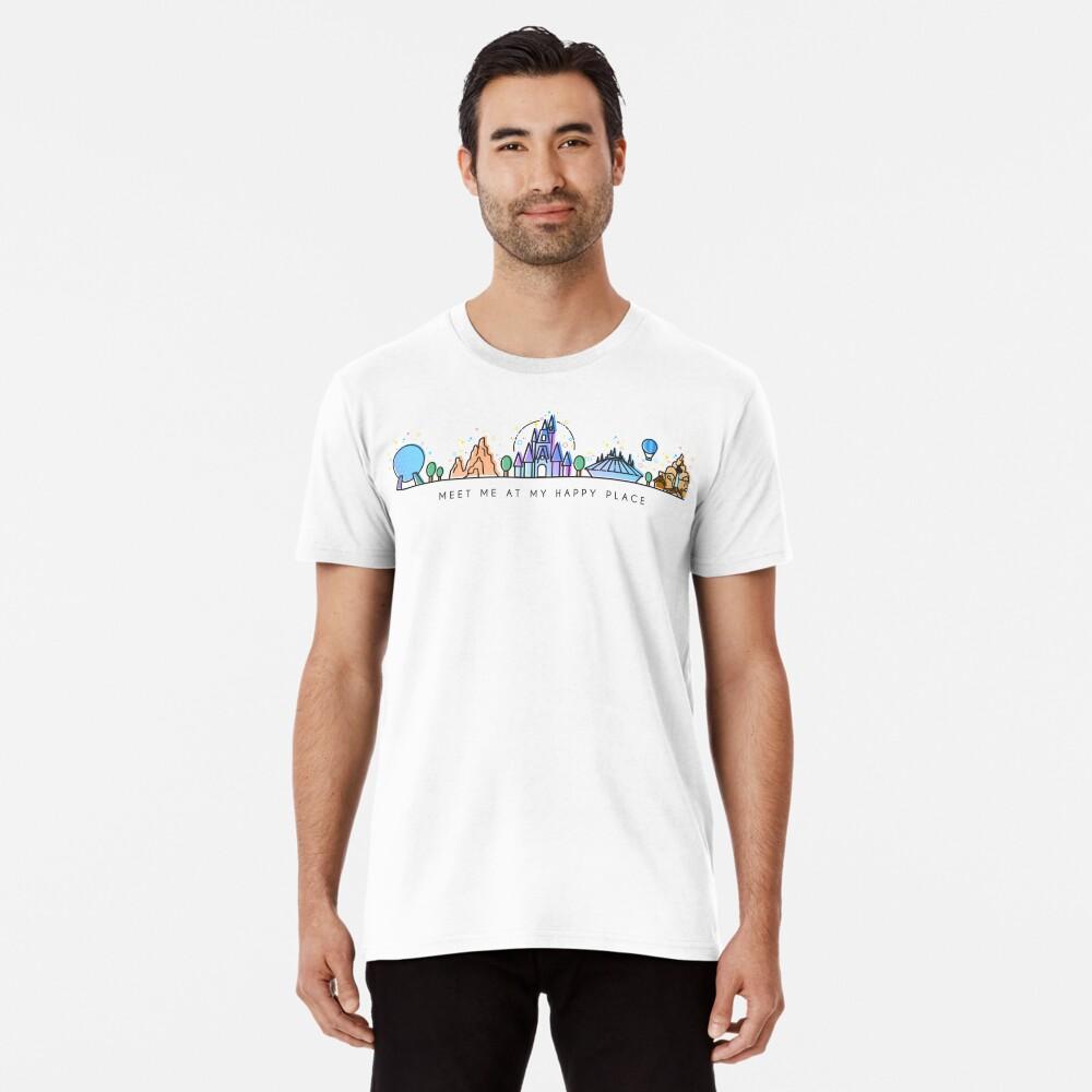 Meet me at my Happy Place Vector Orlando Theme Park Illustration Design Premium T-Shirt