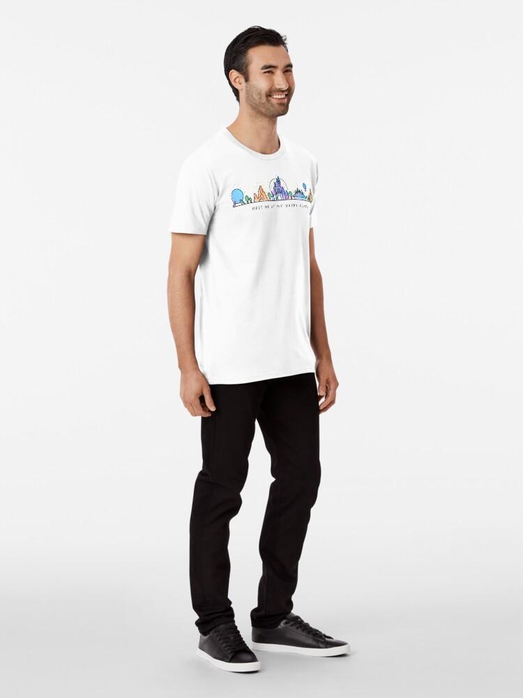 Alternate view of Meet me at my Happy Place Vector Orlando Theme Park Illustration Design Premium T-Shirt