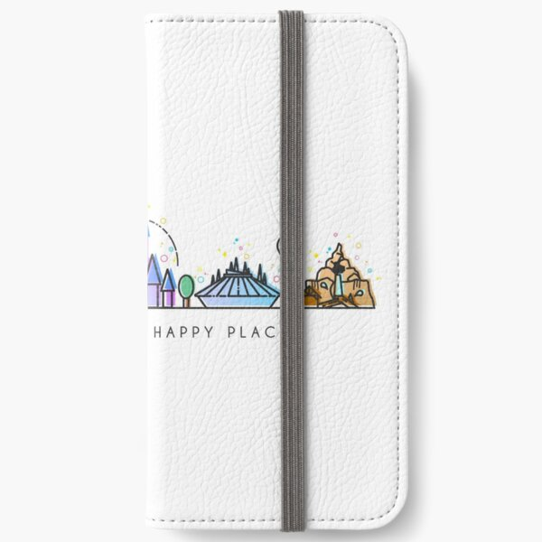 Encuéntreme en mi lugar feliz Vector Orlando Theme Park Illustration Design Fundas tarjetero para iPhone