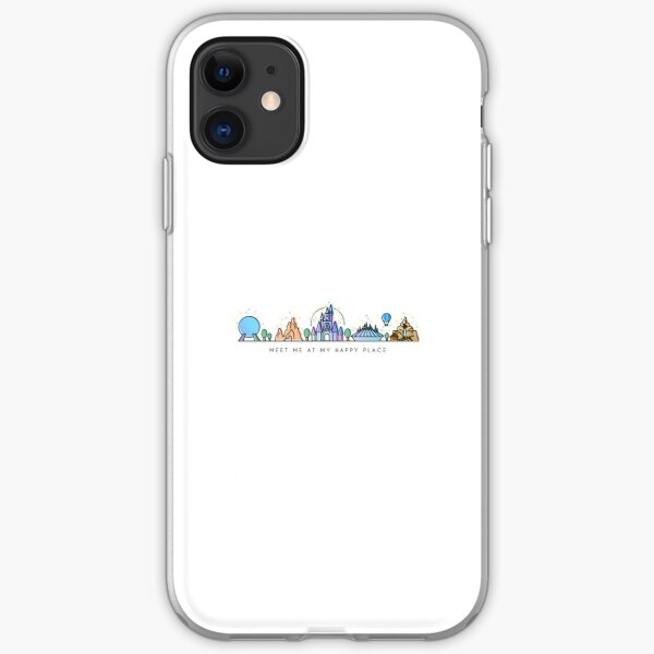 Meet me at my Happy Place Vector Orlando Theme Park Illustration Design iPhone Soft Case