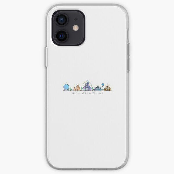 Rencontrez-moi à mon Happy Place Vector Orlando Theme Park Illustration Design Coque souple iPhone
