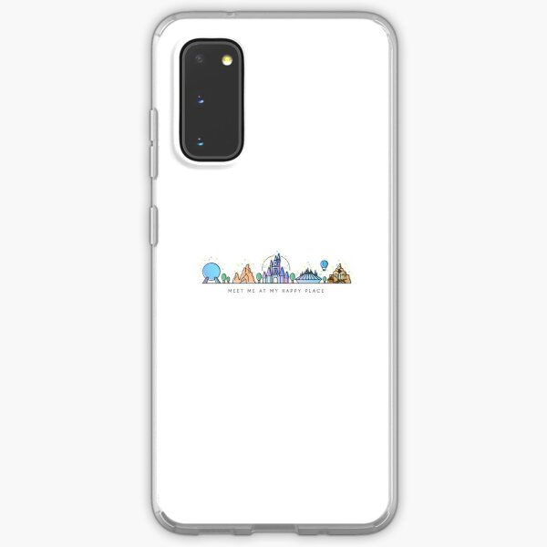 Meet me at my Happy Place Vector Orlando Theme Park Illustration Design Samsung Galaxy Soft Case