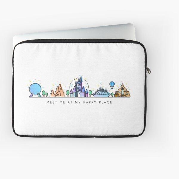 Encuéntreme en mi lugar feliz Vector Orlando Theme Park Illustration Design Funda para portátil