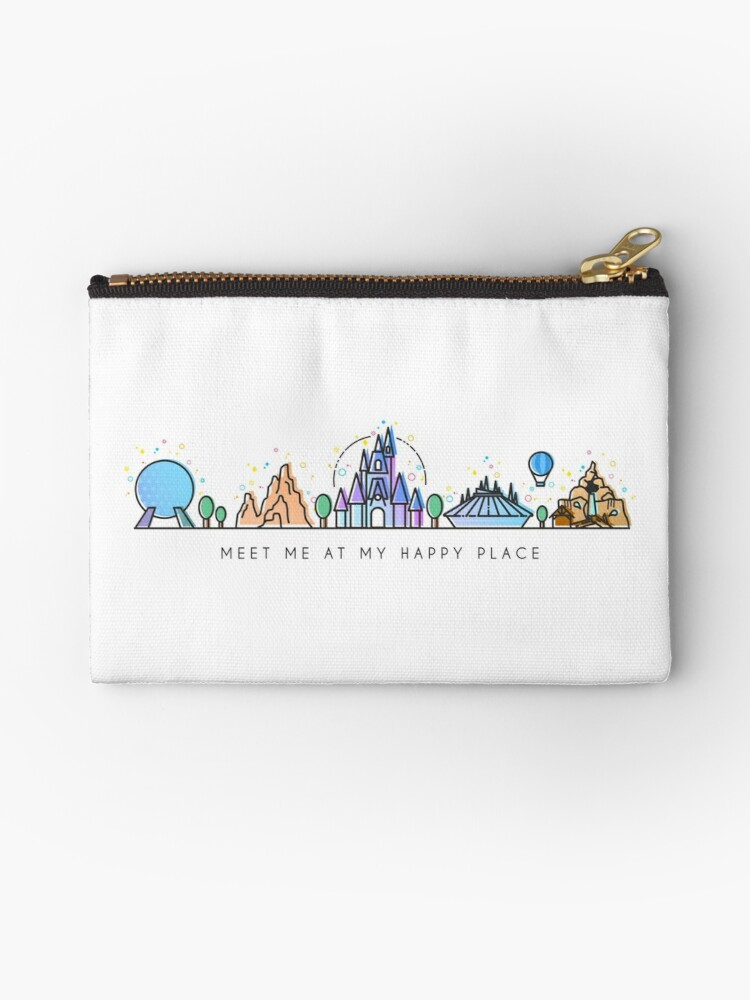 Meet me at my Happy Place Vector Orlando Theme Park Illustration Design by tachadesigns