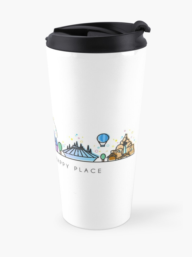Alternate view of Meet me at my Happy Place Vector Orlando Theme Park Illustration Design Travel Mug
